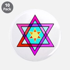 "Jewish Star Of David 3.5"" Button (10 pack)"