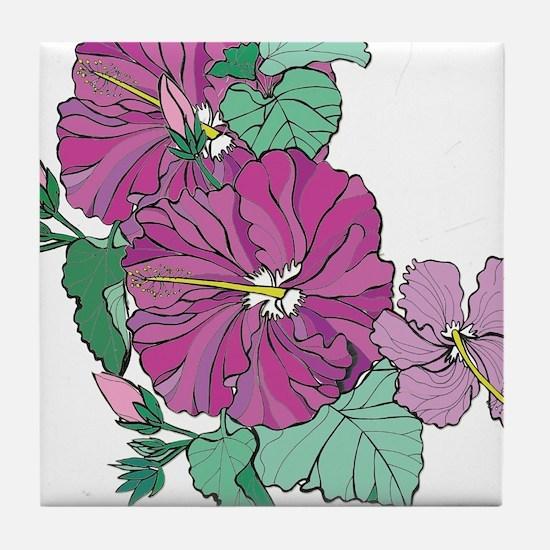 Hibiscue Tile Coaster