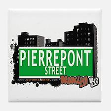 PIERREPONT STREET, BROOKLYN, NYC Tile Coaster