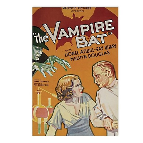 The Vampire Bat Postcards (Package of 8)