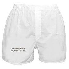 Furry Dog Therapist Boxer Shorts