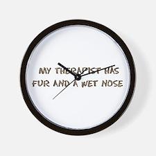 Furry Dog Therapist Wall Clock