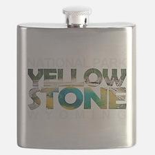 Yellowstone - Wyoming, Montana, Idaho Flask