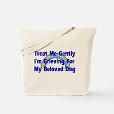 Dog Over Rainbow Bridge Tote Bag