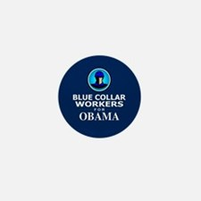 Blue Collar Workers for Obama Mini Button