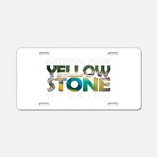 Yellowstone - Wyoming, Mont Aluminum License Plate