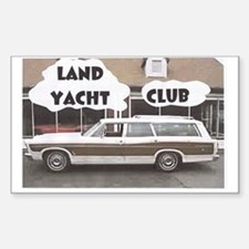 Land Yacht Rectangle Decal