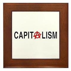 Anarcho Capitalism Framed Tile