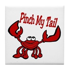 Pinch Me Smiling Crawfish Tile Coaster