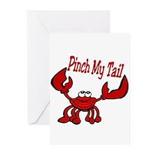 Pinch Me Smiling Crawfish Greeting Cards (Pk of 10