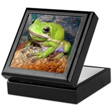 Green treefrog Keepsake Box