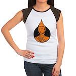 Women's Cap Sleeve T-Shirt Brown/White