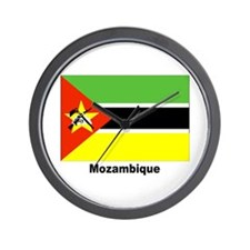 Mozambique Flag Wall Clock