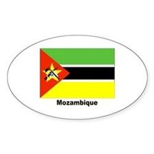 Mozambique Flag Oval Decal