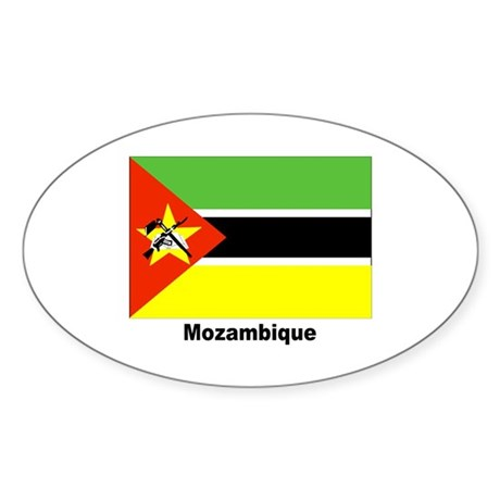 Mozambique Flag Oval Sticker