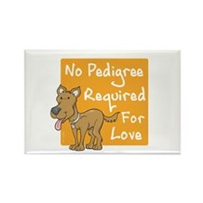 No Pedigree Required Rectangle Magnet
