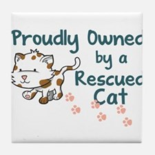 Proudly Owned (Cat) Tile Coaster