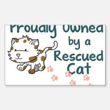 Proudly Owned (Cat) Rectangle Decal