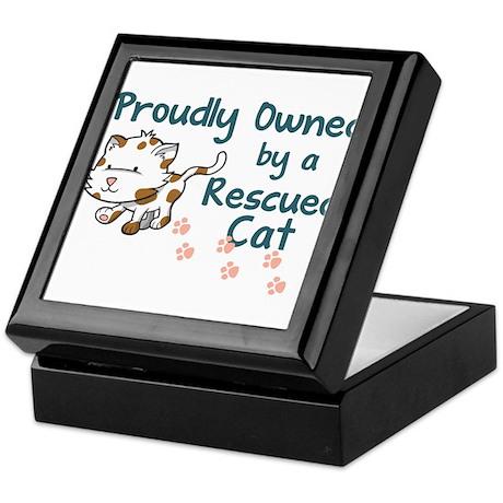 Proudly Owned (Cat) Keepsake Box