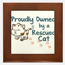 Proudly Owned (Cat) Framed Tile