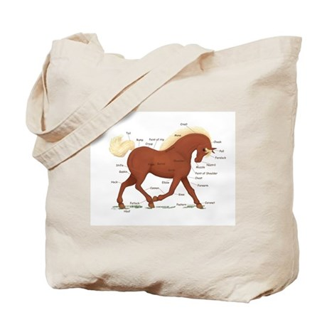 Sorrel Horse Anatomy Chart Tote Bag