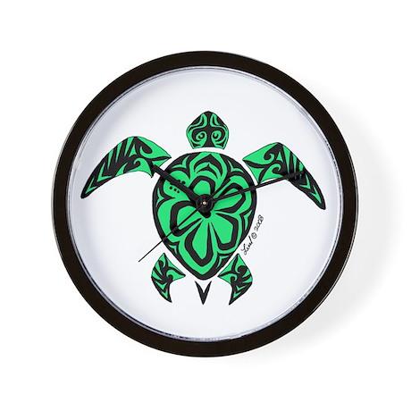 Tribal Turtle Wall Clock