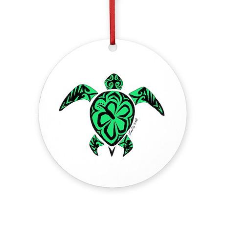 Tribal Turtle Ornament (Round)