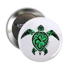 """Tribal Turtle 2.25"""" Button"""