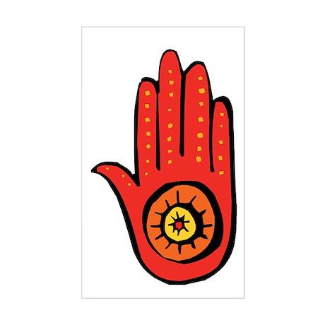 Jainism Symbol Rectangle Sticker
