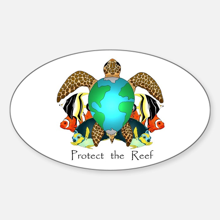Save the Reef Oval Decal