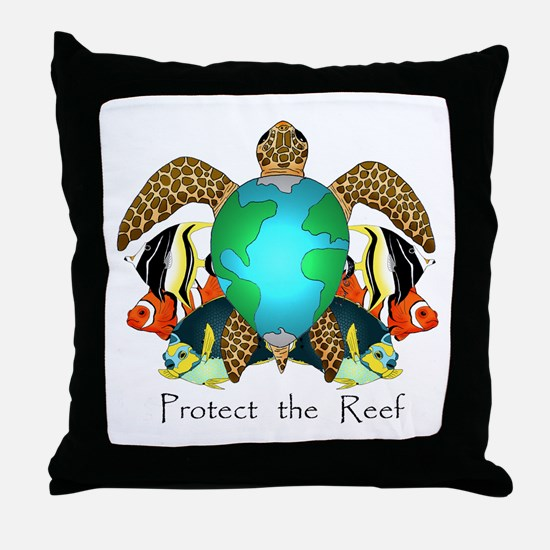Save the Reef Throw Pillow