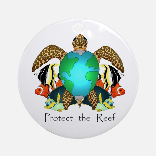 Save the Reef Ornament (Round)