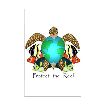 Save the Reef Mini Poster Print