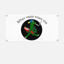 Anti-smoking, smoking dinosaur. Banner