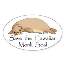 Monk Seal Oval Decal