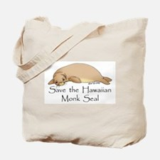Monk Seal Tote Bag