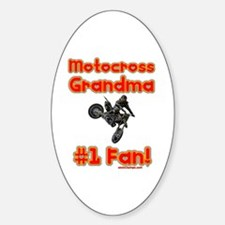 """Motocross Grandma"" Oval Decal"