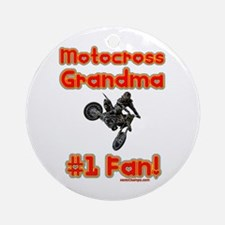 """Motocross Grandma"" Ornament (Round)"