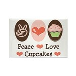 Peace Love Cupcakes Rectangle Magnet