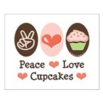 Peace Love Cupcakes Small Poster
