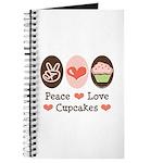 Peace Love Cupcakes Journal
