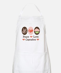 Peace Love Cupcakes BBQ Apron