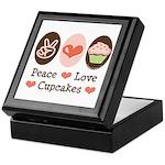 Peace Love Cupcakes Keepsake Box