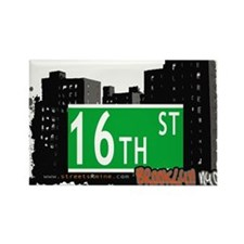 16th STREET, BROOKLYN, NYC Rectangle Magnet