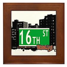 16th STREET, BROOKLYN, NYC Framed Tile