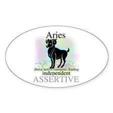 Aries the Ram Oval Decal
