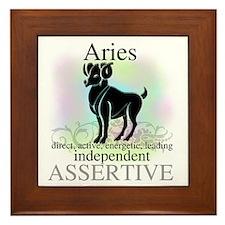 Aries the Ram Framed Tile