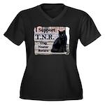 I Support TNR Women's Plus Size V-Neck Dark T-Shi