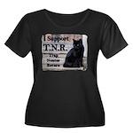 I Support TNR Women's Plus Size Scoop Neck Dark T