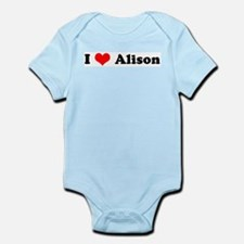 I Love Alison Infant Creeper